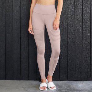 ALO Yoga Pants - Alo High Waisted Moto Legging Lavender Size M